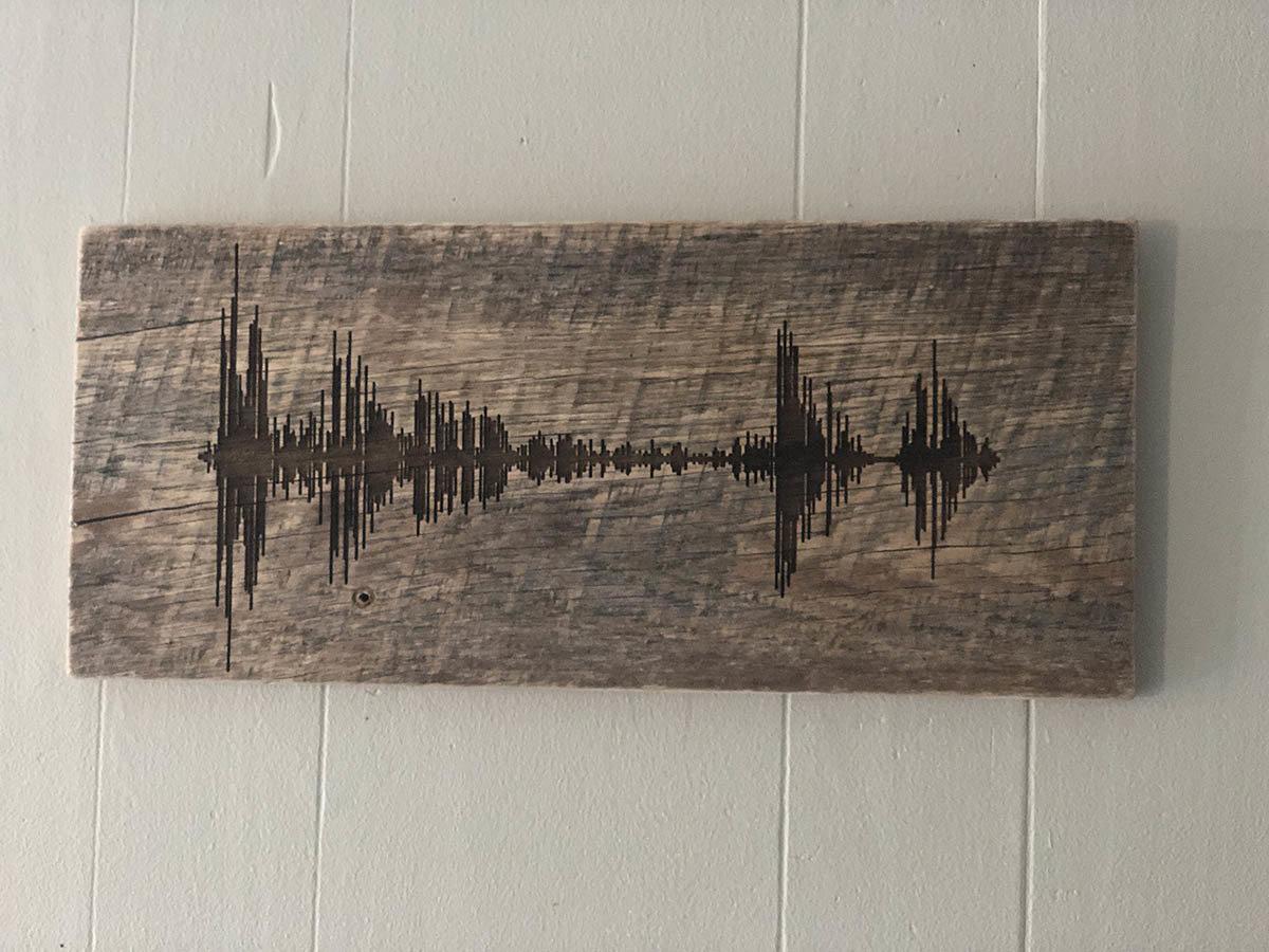 Soundwave Art Reclaimed Barn Wood Plaque