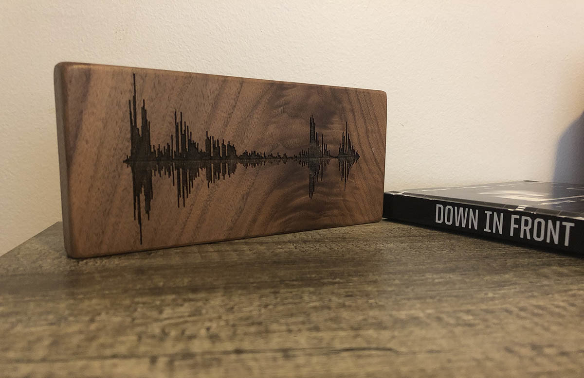 Soundwave Art Solid Walnut Block