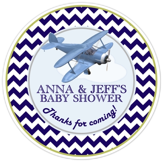 Aviation Baby Shower Stickers 209-sticker