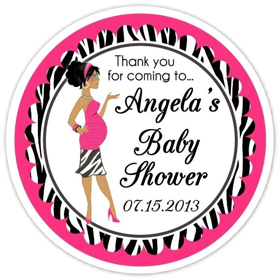 Baby Shower Zebra Diva Stickers 201-sticker