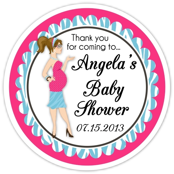 Baby Shower Pink and Blue Diva Stickers 202-sticker