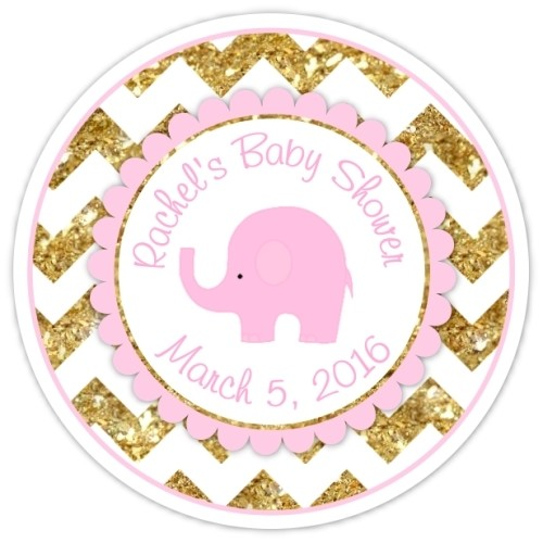 Diva Entertains Party Favors And Gifts Gold Pink Chevron Elephant