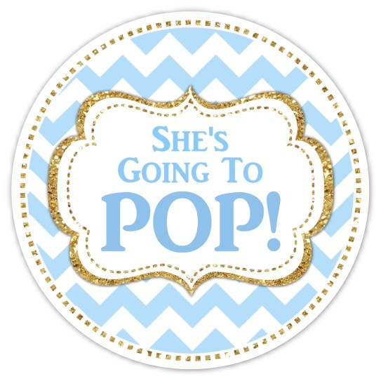 Blue and Gold Going to Pop stickers 217-sticker