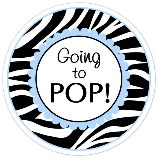 Zebra Print and Blue Going to Pop Stickers 219-sticker