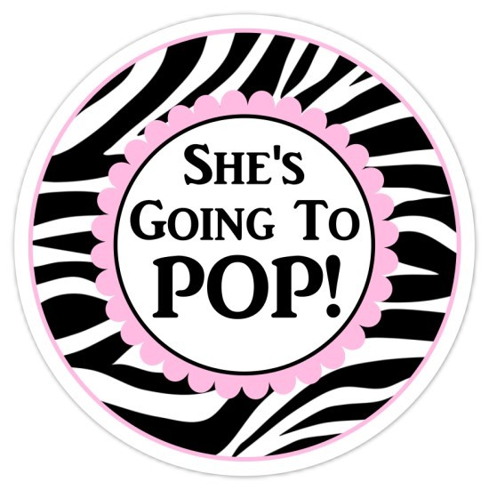 Zebra Print and Hot Pink Going to Pop Stickers 222-sticker