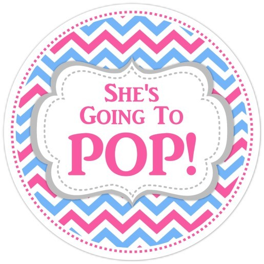 Pink and Blue Chevron Going to Pop Stickers 220-sticker