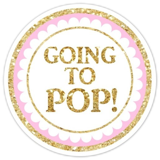 Gold and Pink She's Going to Pop Stickers 223-sticker
