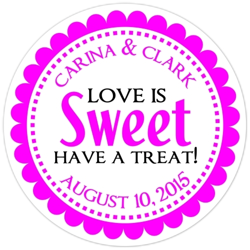 Love is Sweet Pink Stickers 109-sticker