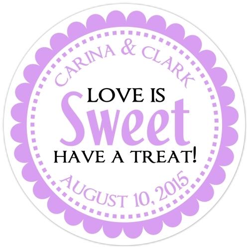 Love is Sweet Purple Stickers 103-sticker
