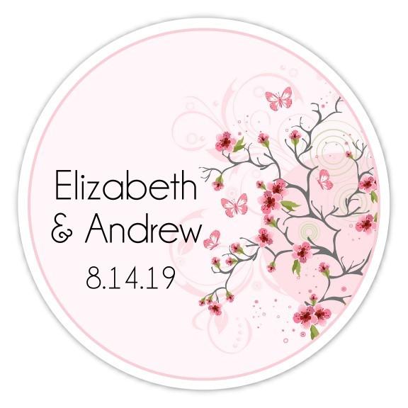 Cherry Blossom Wedding Stickers 135-cbf