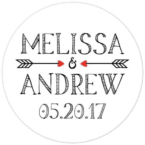 Arrow Bridal Shower or Wedding Stickers 105-sticker