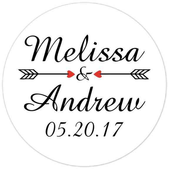 Script and Arrow Bridal Stickers Bridal Shower or Wedding Stickers Script and Arrow Bridal Stickers
