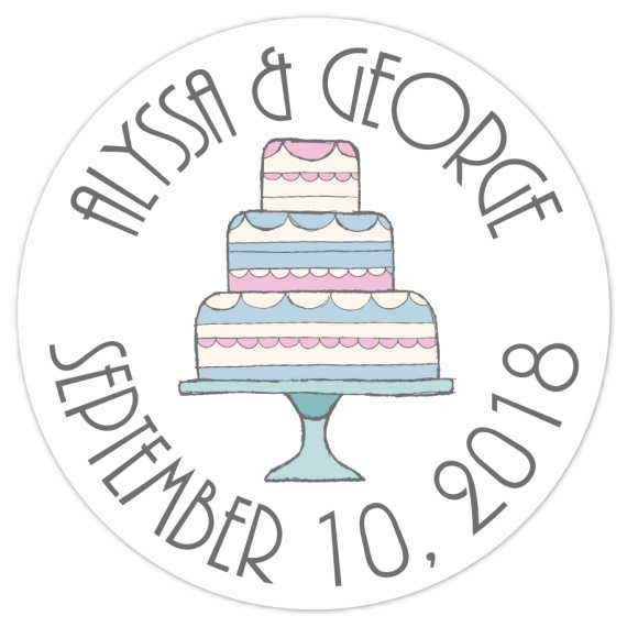 Doodle Cake Wedding Stickers 108-sticker