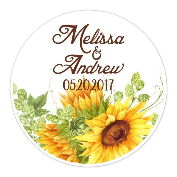 Sunflower Wedding Stickers 125-sticker