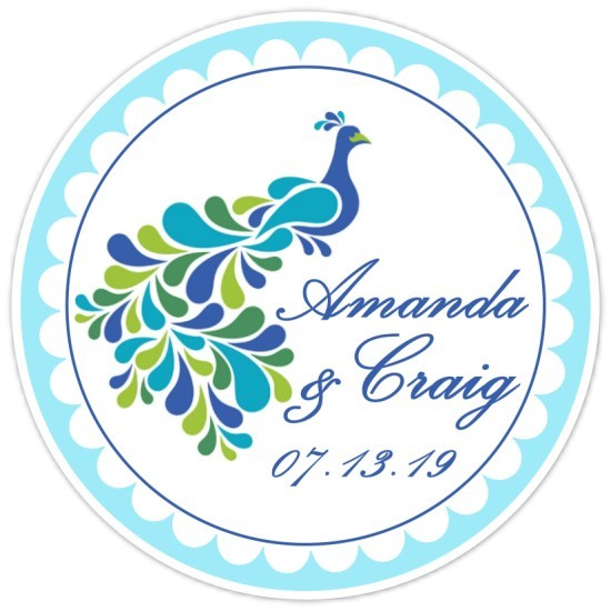 Gorgeous Peacock Wedding Stickers 109b-peacock
