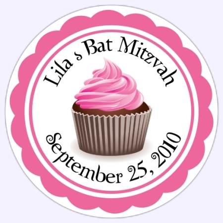 Personalized Cupcake Stickers 214-c