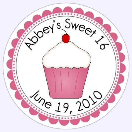 Personalized Sweet Cupcake Stickers 214b-sticker