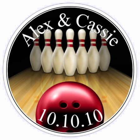 Personalized Bowling Stickers 151-u