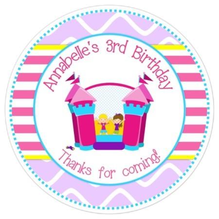 Bounce House Birthday Stickers 303-sticker