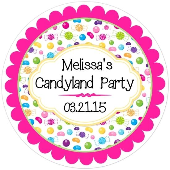 Candy Land Birthday Stickers 304-sticker
