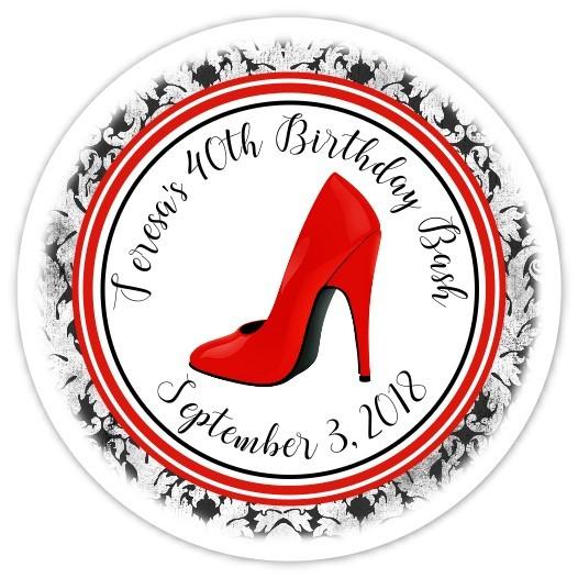 Personalized Stiletto Stickers 108-shoe