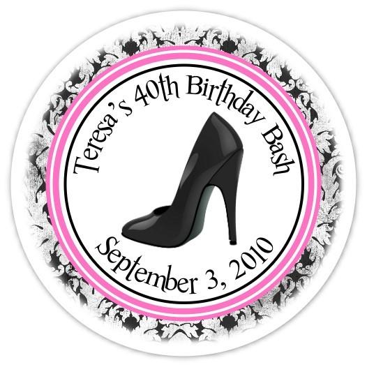Personalized Stiletto Stickers 108p-shoe