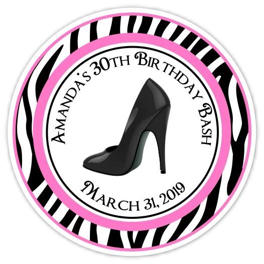 Personalized Stiletto and Zebra Stickers 108z-shoe