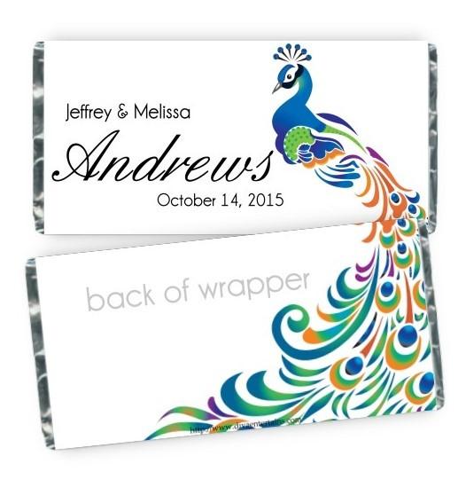 Peacock Candy Bar Wrapper 206-e