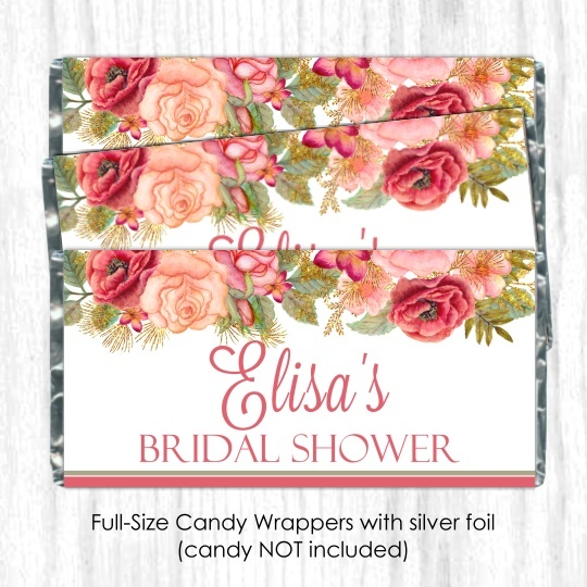 Rose Gold Wedding Candy Wrappers 104-weddingwrappers