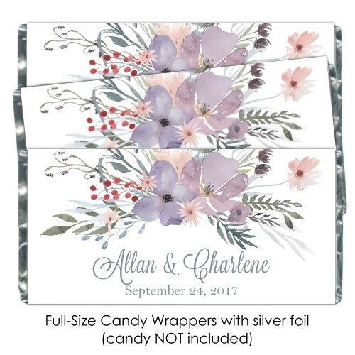 Purple Watercolor Wedding Candy Wrappers 109-weddingwrappers