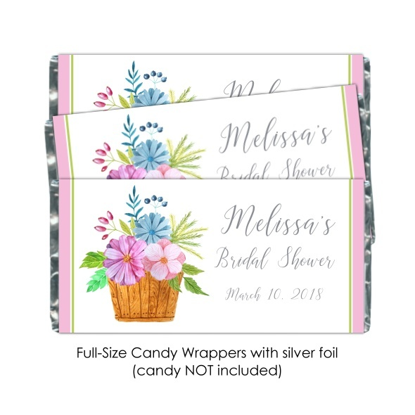 Watercolor Basket Wedding Candy Wrappers 108-weddingwrappers