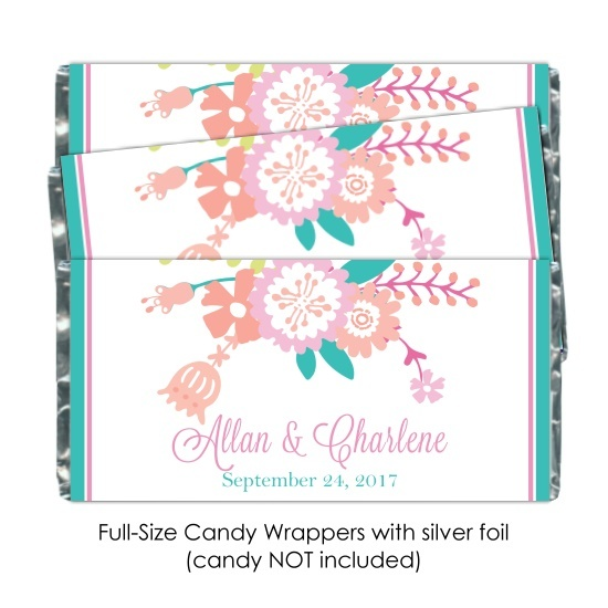 Pastel Floral Wedding Candy Wrappers 111-weddingwrappers
