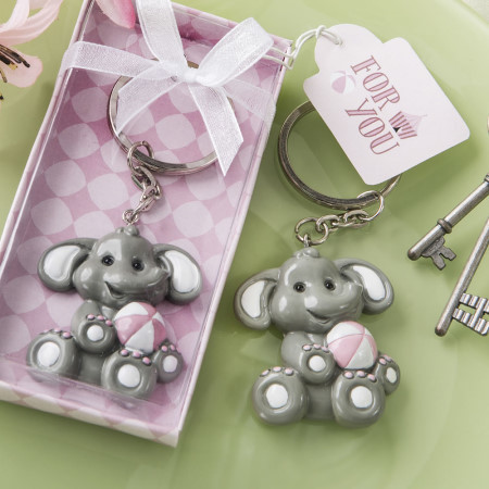 Adorable Baby Elephant with Pink Design Key Chain 301-BABY