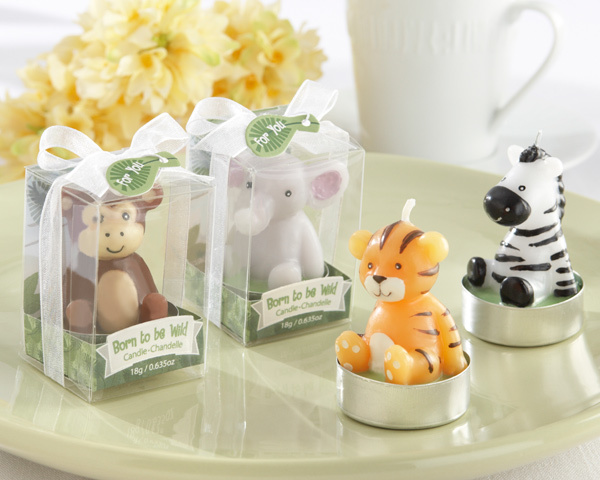 """Born to be Wild"" Animal Candles (Set of 4, Assorted) 237-BABY"