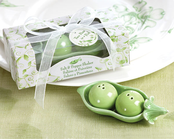 Two Peas in a Pod Ceramic Salt & Pepper Shakers 223-BABY