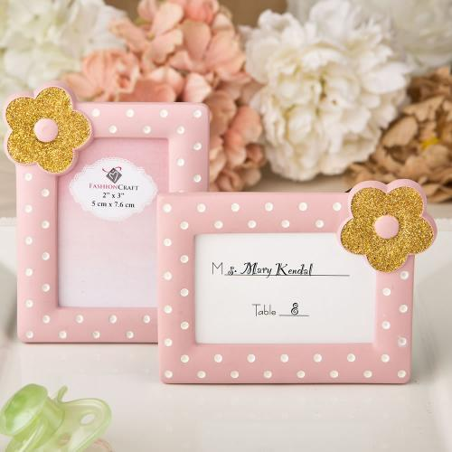 Pink and Gold Photo Frame / Placecard Frame 246-BABY