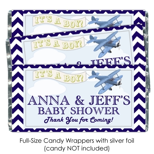 Aviation Baby Shower Candy Wrappers 173-BABY