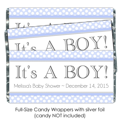 It's A Boy Polka Dot Candy Wrappers 174-BABY