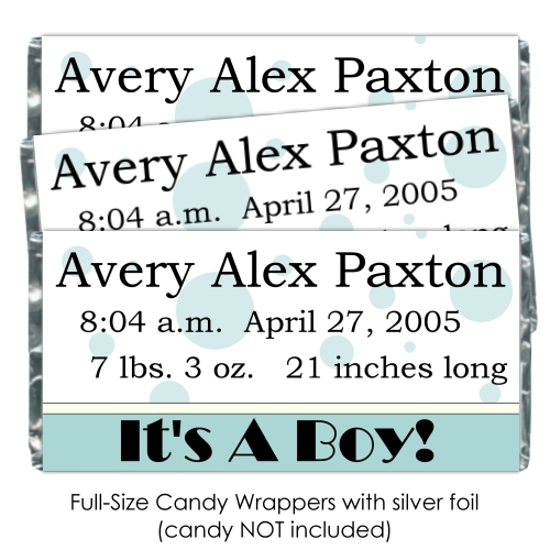 Polka Dot It's A Boy Candy Wrappers 178-BABY