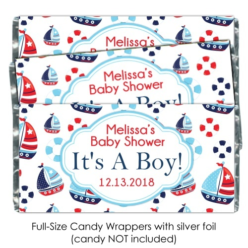 Nautical It's A Boy Baby Shower Candy Wrappers 197-BABY