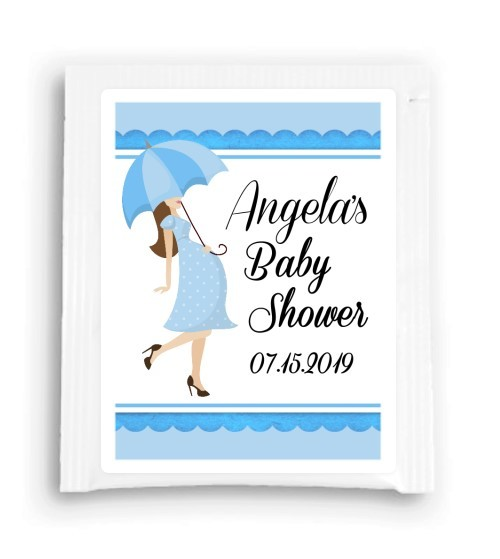 Blue Umbrella Baby Shower Tea Favor 102-TeaFavor