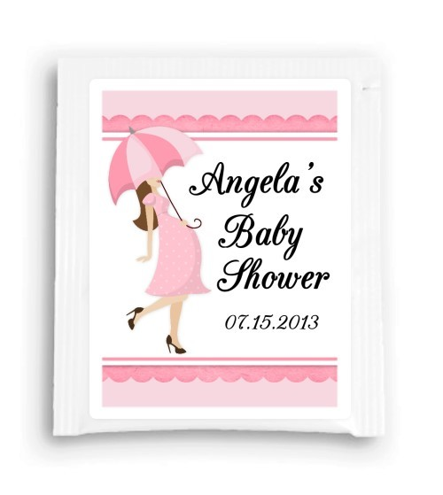 Pink Umbrella Baby Shower Tea Favor 103-TeaFavor