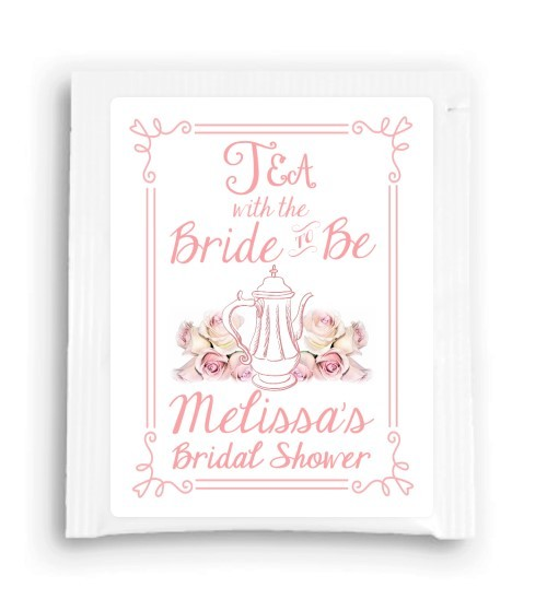 Rose Floral Tea With the Bride to Be Tea Favor 202-TeaFavor