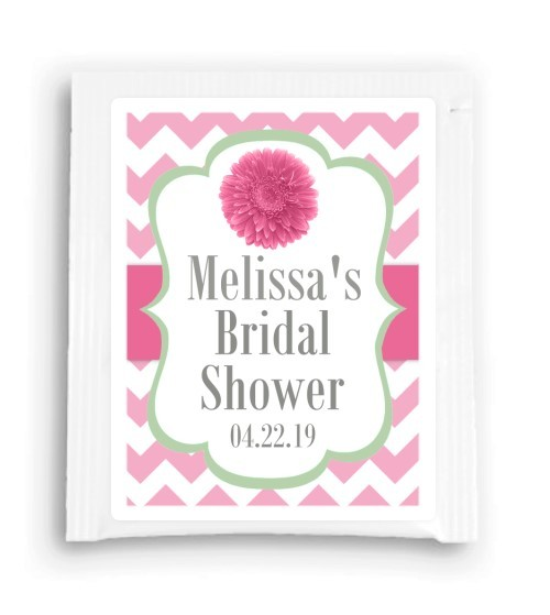 Pink and Green Daisy Bridal Shower Tea Bag Favor 206-TeaFavor