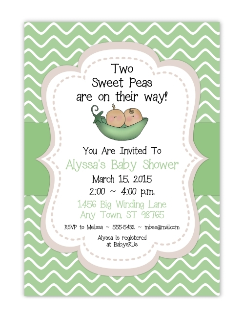 Two Peas In A Pod Baby Shower Invitations 104-BabyShowerInvites