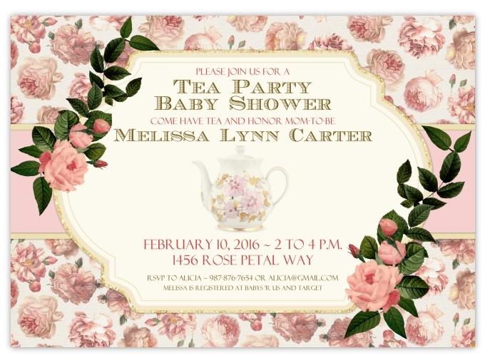 Tea Party Baby Shower Invitations 106-BabyShowerInvites