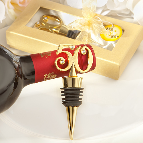 Golden-50 Wine Bottle Stoppers 278-WINE