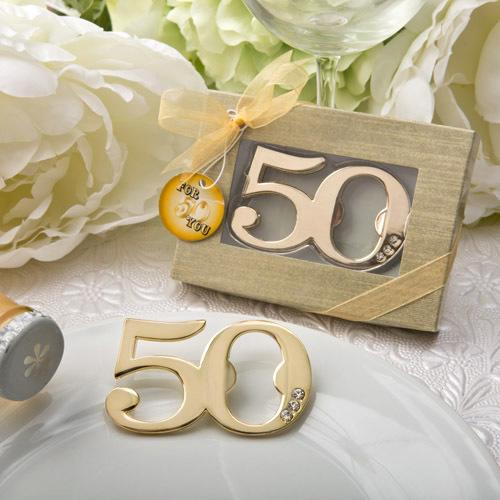 50th Design Golden Bottle Opener 277-WINE