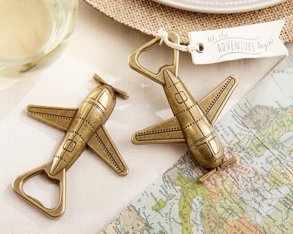 """Let the Adventure Begin"" Airplane Bottle Opener 281-WINE"