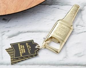 Gold Beer Shaped Bottle Opener 363-WINE